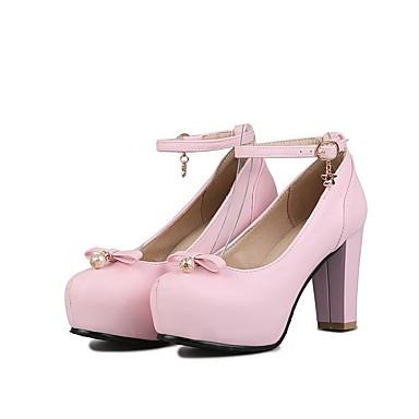 Talons Polyuréthane Chaussures 06865092 été Rose Confort à Rouge Printemps Bottier Femme Noir Talon YxqwBHH