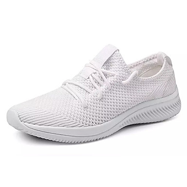 Men's Canvas / Elastic Fabric Summer Comfort White Athletic Shoes Running Shoes White Comfort / Black / Red 9717b7
