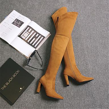 Bout Mode Talon Matière Jaune Rouge Evénement Amande pointu synthétique Bottier Chaussures Bottes hiver à la Bottes Cuissardes Clair Femme 06854239 Automne amp; Soirée 8Fw7vTFq