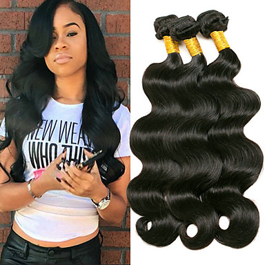 3 Bundles Brazilian Hair Body Wave 8A Human Hair Extension Bundle Hair One  Pack Solution 8-28 inch Natural Natural Color Human Hair Weaves Silky  Smooth ... 37cb482804