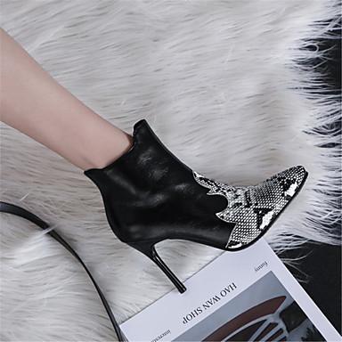 la Soirée Bourgogne Bottes Demi Botte 06846218 Aiguille à Evénement Talon Noir hiver Mode Polyuréthane Bottine Femme Bottes amp; Automne Bout Chaussures pointu 6UwYZqTg