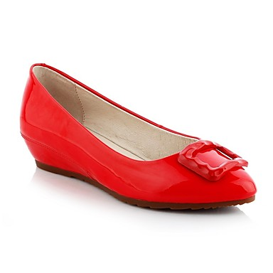 Mocassins compensée Chaussons 06848549 Vin D6148 Chaussures été Rouge Polyuréthane Printemps Confort Femme semelle de Amande Hauteur et Xq7a80