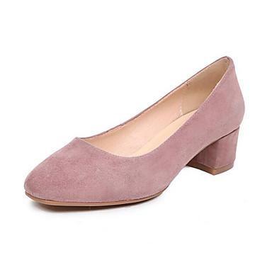 Cuir Nappa Talon Bottier 06850131 Femme Confort Printemps Talons Daim Chaussures Bleu à Rouge Chaussures Noir EtEgU