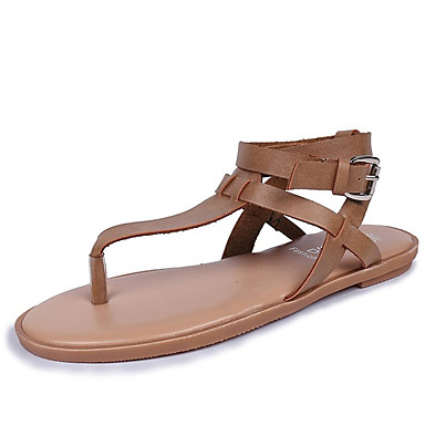 PU 06854662 Claro Marrón Mujer Tacón Plano Confort Zapatos Sandalias Verano Negro fw5ZaTqw