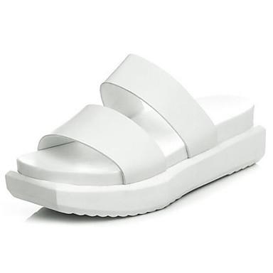 Blanc Sandales Plat Nappa Cuir 06857420 Talon Femme Confort Eté Chaussures Noir T8BOBq