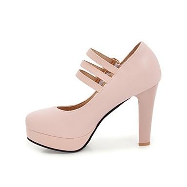 Strass Beige Printemps Polyuréthane à Femme été Talon 06846210 Basique Talons Bout Escarpin Noir Chaussures rond Bottier Chaussures Rose AFcqcWO