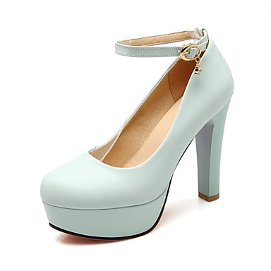 Rose Talon Chaussures Talons Bleu été Polyuréthane Blanc Femme Confort à Printemps Aiguille 06850009 Chaussures RTq7Wd8xw