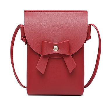 abordables Sacs-Femme Noeud(s) / Couleur Unie PU Mobile Bag Phone Rose Claire / Gris clair / Vin