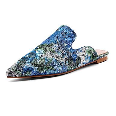 Mules Talon Femme été Polyuréthane Bleu Printemps Fuchsia amp; 06864634 Jaune Chaussures Confort Plat Sabot ZRwU8a0Rq