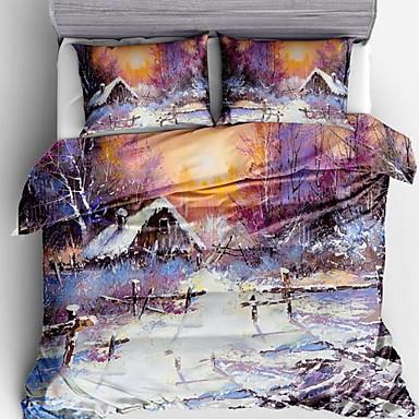 ensembles housse de couette 3d polyester imprim 3 pi ces. Black Bedroom Furniture Sets. Home Design Ideas