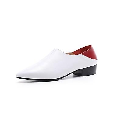 Blanc 06843229 D6148 Mocassins Cuir Nappa Hiver Confort Chaussures Noir et Chaussons Block Heel Femme WFqPnOUn
