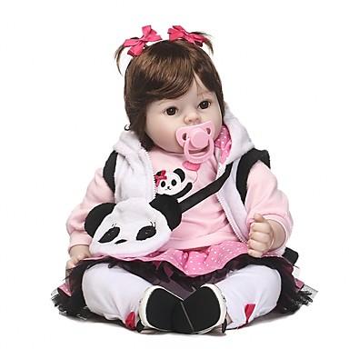 NPKCOLLECTION NPK DOLL Yeniden Doğmuş Bebekler Kız Bezi Kız Bebeklerin 20 inç canlı Hediye Yapay İmplantasyon Kahverengi Gözler Kid Genç Kız Oyuncaklar Hediye