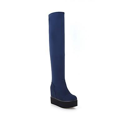 Femme Chaussures Daim Automne Automne Automne hiver Confort Bottes Creepers Noir / Rouge / Bleu | Authentique  2171c1