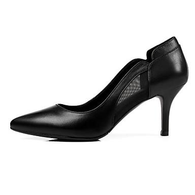 Chaussures Talons amp; Automne 06858652 Basique Confort Talon Noir Femme Nappa à Beige Escarpin Cuir Printemps Aiguille Chaussures TqxBIPz