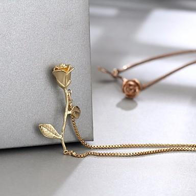 billige Motearmbånd-Dame Armbånd Briolette Blomst damer Romantikk Søt Legering Armbånd Smykker Gull / Sølv / Rose Gull Til Stevnemøte Ut på byen