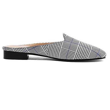 les sabots et cuir chaussures confort nappa mules croûton croûton croûton fermé l'orteil rouge / bleu 7f6b87