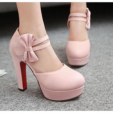 Femme Polyuréthane Noir amp; Aiguille Confort Talon Rose 06858424 Printemps Escarpin Basique Chaussures Blanc à Chaussures Automne Talons BBxqFw6r