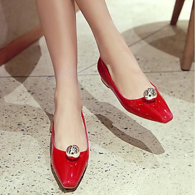 amp; Polyuréthane Argent Ballerines Automne Bout Talon Confort Billes Femme Chaussures Bas carré Printemps 06861931 Rouge Café OAxw5qtR