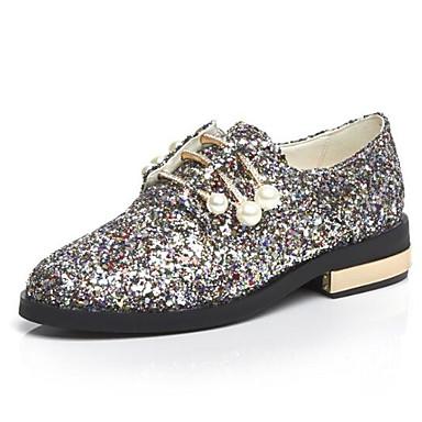 Plat Bout fermé Printemps Eté ciel synthétique Matière Talon Confort Chaussures Oxfords Femme en Arc 06848527 qaH8wzvB