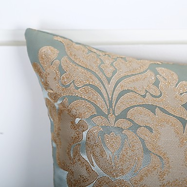 1 Pcs Polyester Pillow Cover Jacquard Flower Fl Print Modern Contemporary Past