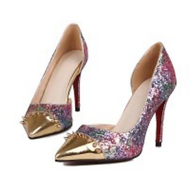 Basique Escarpin Chaussures Talon Matière Automne Femme Violet Chaussures Printemps Aiguille Confort Claire synthétique 06841693 amp; à Talons g08qdFS