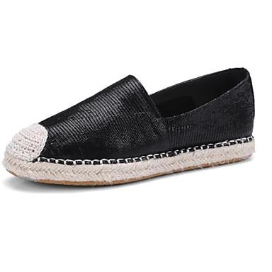 06849745 Argent et D6148 mouton Peau Noir Mocassins Confort Chaussures Eté Gris Chaussons Talon Femme de Plat Zg4wq6z0