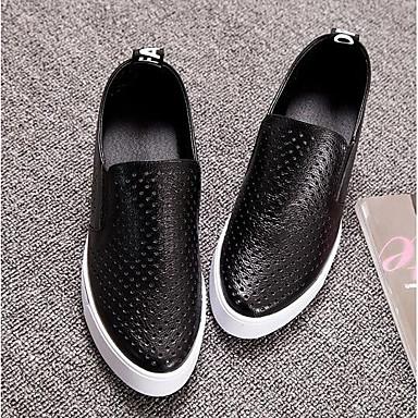 D6148 Mocassins Blanc de Bout Argent Femme Nappa Chaussures Eté Noir Printemps Cuir 06855222 et Chaussons semelle Hauteur compensée fermé Confort qcC1Fz