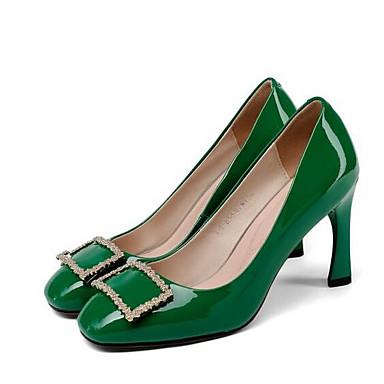 Femme Vert Talons Nappa Décontracté Noir à Chaussures Cuir 06869604 Vin Talon Printemps Aiguille vr1wvY