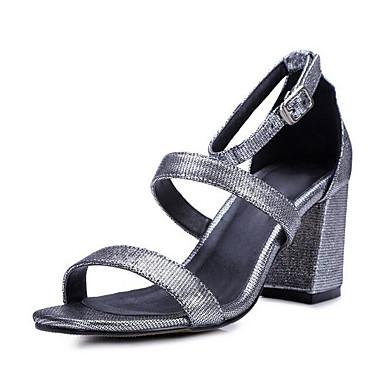 06849975 Argent Chaussures Noir mouton de Sandales Femme Vin Printemps Confort Peau Talon Bottier 7qngxwvxa