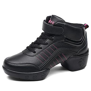 Competente Per Donna Sneakers Da Danza Moderna Sintetico Sneaker Fibbia Piatto Scarpe Da Ballo Bianco - Nero #06898469