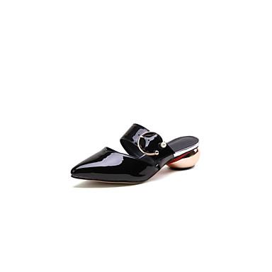 hétérotypique Printemps Talon amp; Mules Femme été Noir Sabot Polyuréthane 06850058 Chaussures Blanc Confort SqOwazx
