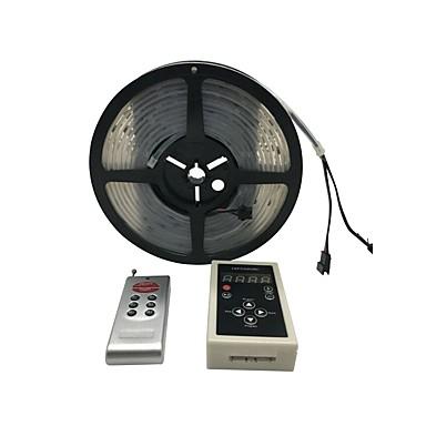 billige LED Strip Lamper-10w 5meters 6803 ic drømmefarge rgb led strip 5050 30led / m ip67 vanntett dc 12v (1 stk)
