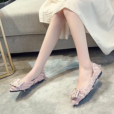 Rosa Caqui Puntiagudo Otoño Mujer Confort Plano Tacón PU Negro Dedo Bailarinas 06855688 Zapatos xFFqvP6