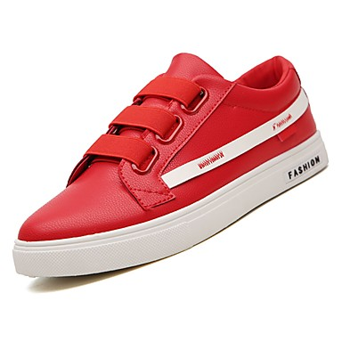 Men's Comfort Shoes / PU(Polyurethane) Fall Sneakers White / Shoes Black / Red 0ac5c9