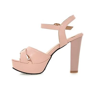 Rose Polyuréthane Bride Beige 06856857 Bottier Sandales A Noir Femme ouvert Arrière Bout Chaussures Eté Talon OnqH45