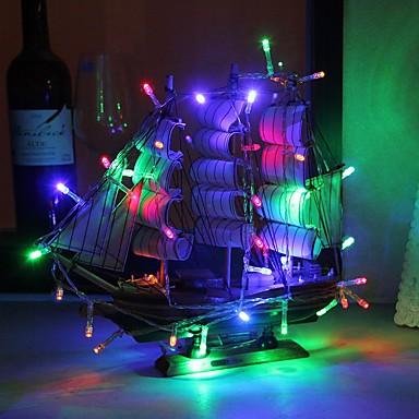 preiswerte Dekorative Beleuchtung-3m 30 leds string lichter weiß warm weiß lila pink rot blau multi farbe grün gelb party dekorativ reizend 3 aa batterien betrieben 1 stück