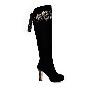 Chaussures Polyuréthane Confort Aiguille Noir 06850324 Talon Automne Femme hiver Bottes pdHvdxw