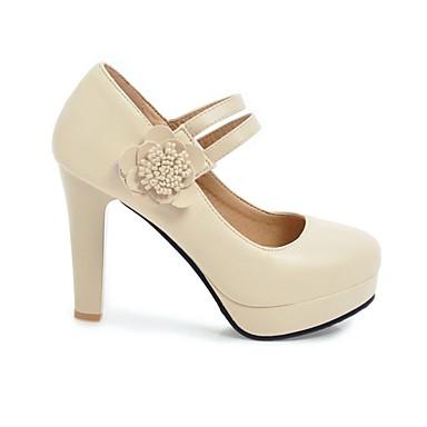 Basique Femme Rose été Talons Bout rond à Polyuréthane Chaussures Bottier Printemps Talon 06846205 Chaussures Escarpin Noir Beige ZXrXTwBq