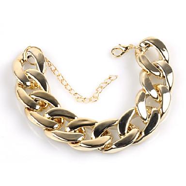 voordelige Herensieraden-Heren Armband Cubaanse link Dikke ketting Creatief Eenvoudig modieus Hyperbool Legering Armband sieraden Goud Voor Straat Bar