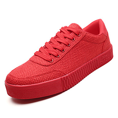 Men's Comfort Shoes Canvas Proof Fall Casual Sneakers Water Proof Canvas Black / Gray / Red cd204d