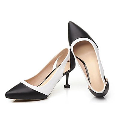Femme Escarpin 06848931 à Noir Aiguille Printemps Chaussures Blanc Chaussures amp; Talons Cuir Confort Basique Nappa Automne Talon rqrpgH