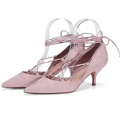 Chaussures Chaussures Aiguille Basique Femme Daim Rose à Noir Escarpin Talons Printemps Talon 06863722 qBpUXUfxw