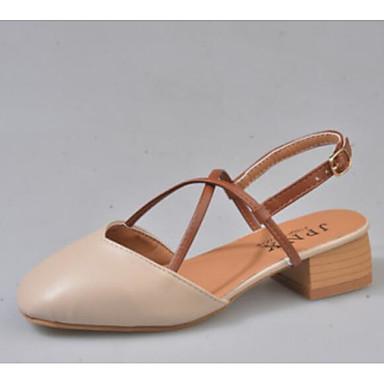 Women's Comfort Shoes PU(Polyurethane) Spring Sandals Low Heel Beige / Almond Almond / 14a6a4