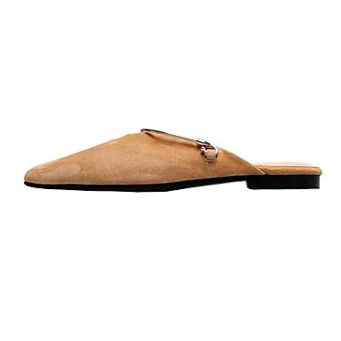 Peau Plat Talon Chaussures Amande Noir Printemps Femme Mules 06848416 Confort Sabot amp; de mouton TH15qaw