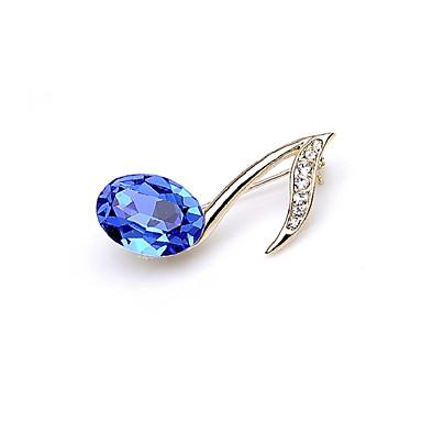 abordables Epingles & Broches-Femme Cristal Broche Tendance Musique Note de Musique Branché Doux Broche Bijoux Bleu Pour Rendez-vous Plein Air