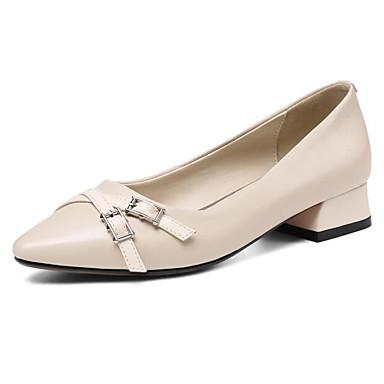 les talons nappa de chaussures confort nappa talons cuir automne chunky talon blanc noir b643c9