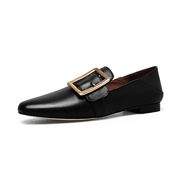 Women's Shoes Nappa Leather Heel Fall Comfort Flats Block Heel Leather Black / Wine / Almond db2288