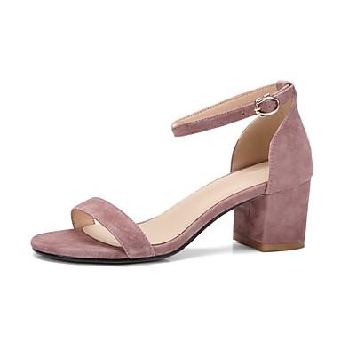 Sandales Bottier Confort 06841452 Rose Amande Rouge Eté Talon Femme Daim Chaussures fxCqwS4aI