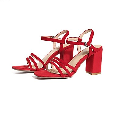 magasin phare | Femme Chaussures de confort Daim Eté Rouge  s Talon Bottier Rouge Eté / Bleu / Amande d7f1c2