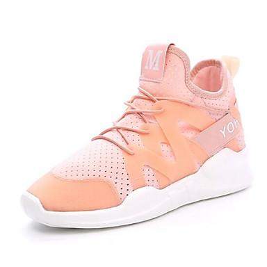 Printemps Noir Confort Rose Chaussures Eté fermé Femme élastique 06846004 Bout Plat Talon Basket Tissu Blanc wqt7aXnFTx